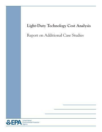 Light-Duty Technology Cost Analysis - US Environmental Protection ...