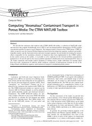 Computing ''Anomalous'' Contaminant Transport in Porous Media: The