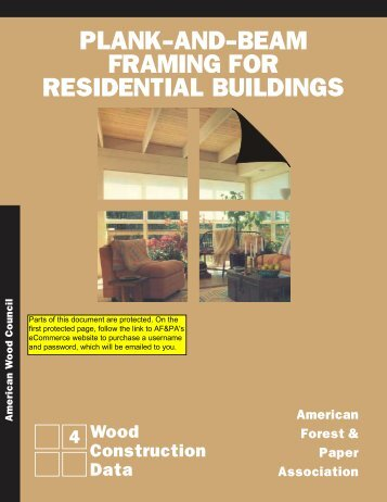 plank-and-beam framing for residential buildings - American Wood ...