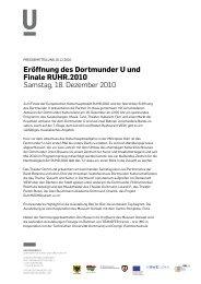 Pressemitteilung 16.12.2010 - Dortmunder U