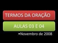 TERMOS DA ORAÇÃO AULAS 03 E 04
