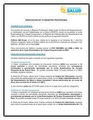 renovación de tu registro profesional - Colegio de Profesionales de ...