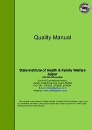 Quality Manual.pdf - SIHFW Rajasthan