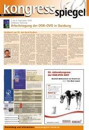 Arbeitstagung der DGK-DVG in Duisburg