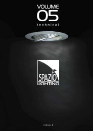 PAGE 1-5 TECHNICAL INFORMATION.FH11 - Spazio Lighting