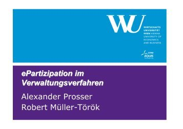 Vortrag von Univ.-Prof. Dr. Alexander Prosser