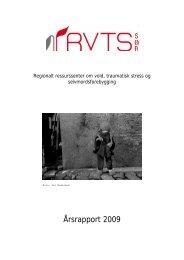 Årsrapport 2009 - RVTS Sør
