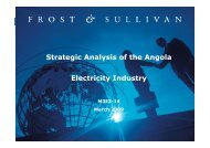 Strategic Analysis of the Angola Electricity Industry - Growth ...