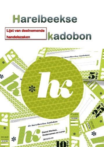 Lijst van deelnemende Lijst van deelnemende ... - Stad Harelbeke