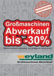 Großmaschinen-Abverkauf 2012