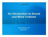 An Introduction to Sound and Wind Turbines