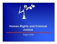 Human rights and criminal justice overview - presentation