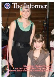 ISS graduate, Charlotte Thorstvedt and third grader, Allison Percy ...