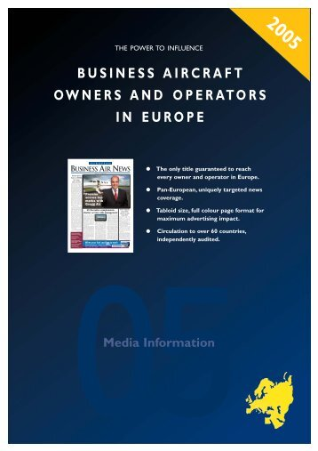 business aircraft owners and operators in europe - European ...