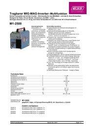 MIG-MAG-Inverter – Multifunktion