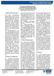 Allgemeine Geschäftsbedingungen - BERNER International GmbH