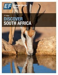 DISCOVER SOUTH AFRICA - EF College Study Tours