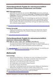 Informationen für Schulen und SchülerInnen - Frauenbeauftragte