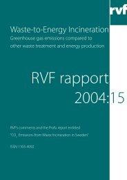 Waste-to-Energy Incineration - Avfall Sverige