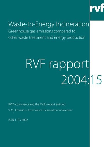 Waste-to-Energy Incineration - Avfall Sverige