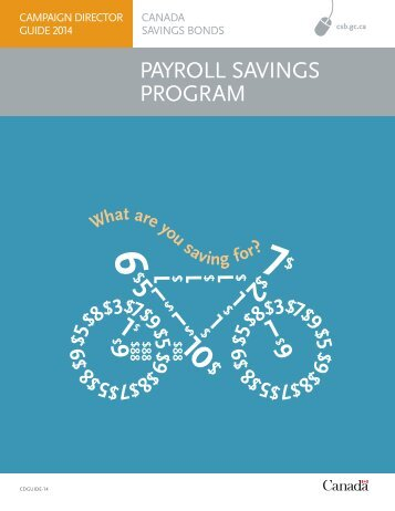 Campaign Director Guide - Canada Savings Bonds