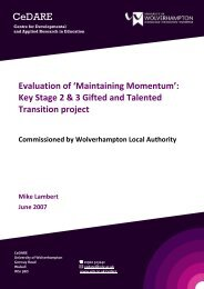 Download the project report - University of Wolverhampton