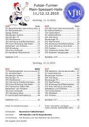 futsal-hallenkreismeisterschaft u15 - VfB Hafenlohr eV
