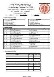 Spielplan F-Junioren - VFB Polch