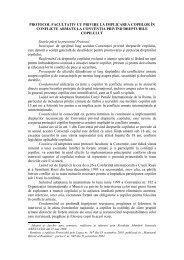 Protocol facultativ cu privire la implicarea copiilor în ... - Salvati Copiii