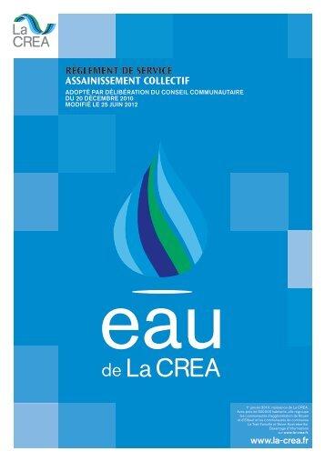 RèGLEMENT DE SERVICE ASSAINISSEMENT COLLECTIF - La Crea