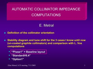 Automatic Collimator Impedance Computations