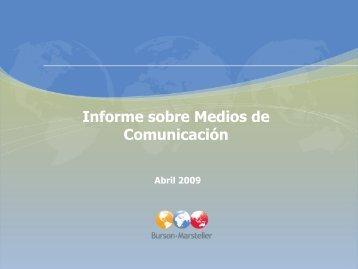 Informe sobre Medios de Comunicación Enero 2009 - enzona.com