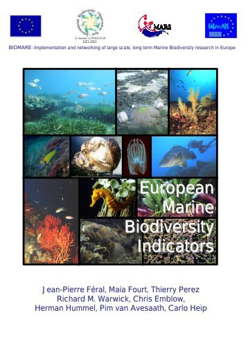 European Marine Biodiversity Indicators - ecasa