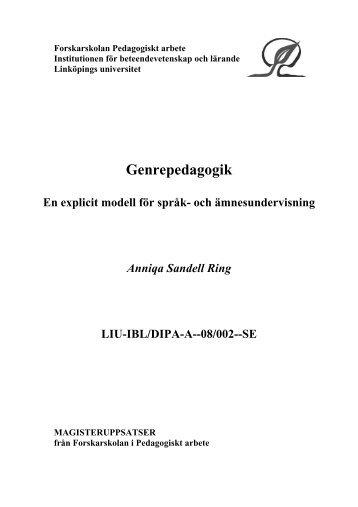 Anniqa Sandell Ring D-uppsats