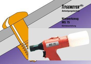 Nietwerkzeug MS 75 - Titgemeyer