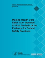 Making Health Care Safer II: An Updated Critical Analysis of the ...