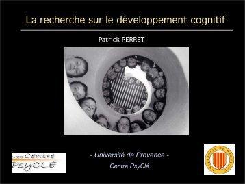 La recherche sur le développement cognitif - Resodys