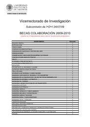 Becas concedidas a los departamentos - Universidad Politécnica de ...
