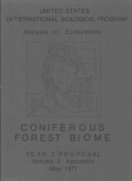 FOREST BIOME - ScholarsArchive at Oregon State University