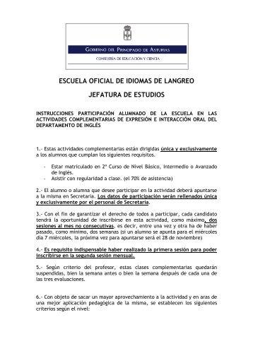 Art culo 23 escuela oficial de idiomas - Escuela oficial de idiomas inca ...