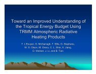 Toward an Improved Understanding of the Tropical Energy Budget ...
