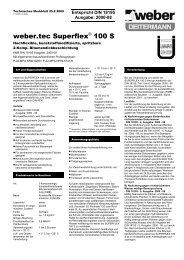 weber.tec Superflex® 100 S - Saint-Gobain Weber GmbH