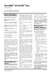 NovoMix 30 Penfill 3mL - Novo Nordisk Australasia