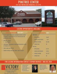 pinetree center - victory real estate investments llc