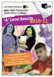 J6708 HP 'A' Level results flyer