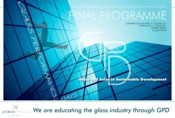 We are educating the glass industry through GPD - GPD.fi