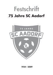 Festschrift 75 Jahre SC Aadorf