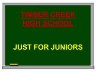 Just for Juniors Powerpoint - Keller ISD Schools