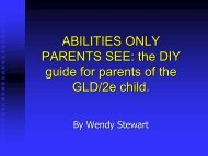 GLD and ADHD students - AAEGT