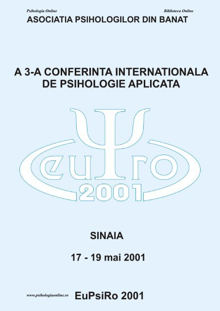 Psihologia Online Biblioteca Online www psihologiaonline ro